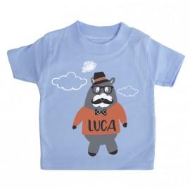 Maglietta personalizzato Orsetto Hipster