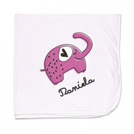 Copertina neonato personalizzata elefante