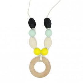 Collana da Allattamento Modello Multicolore (giallo, crema, verde menta e negro opaco)