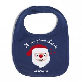 Bavaglino di tela personalizzato Babbo Natale