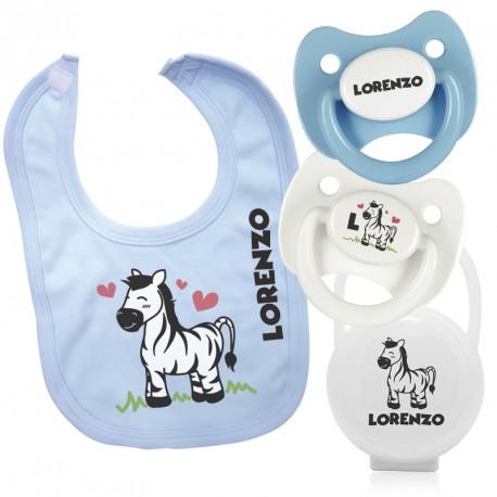 Pack Bavaglino Personalizzato Zebra