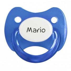 Ciuccio Personalizzato trasparente con nome
