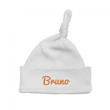 Cappellino Bebé personalizzato bianco